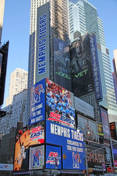 Photo of Memphis Tigers Big East Billboard on Time Square