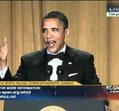 PHOTO: President Barack Obama At White House Correspondents Dinner 2012