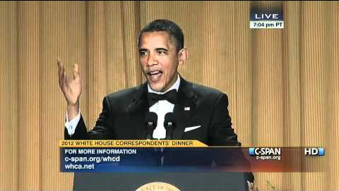PHOTO: President Barack Obama At White House Correspondents Dinner 2012