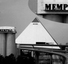 Pyramid and Memphis Sign