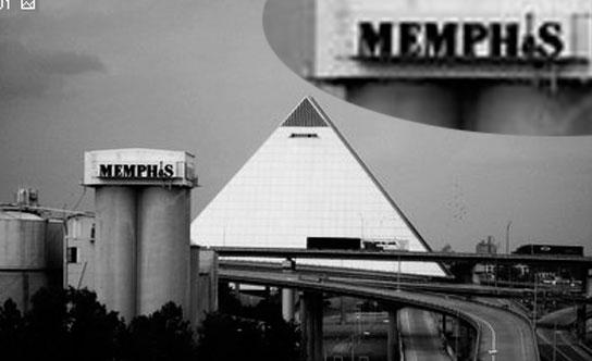 Pyramid and Memphis Sign