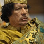 Muammar al-Gaddafi at the AU summit