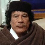Photo of the autocratic ruler of Libya, Muammar al-Gaddafi