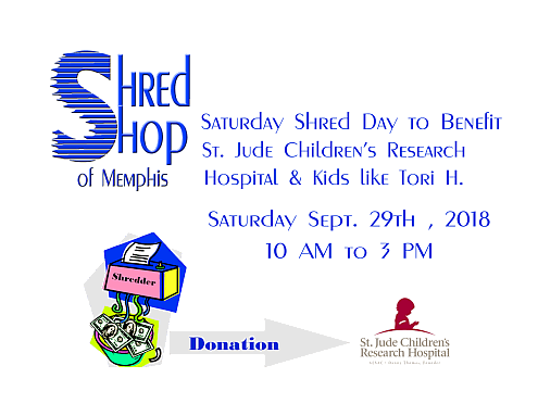 Saturday Shred Day for St. Jude Children's Research Hospital & kids like Tori H